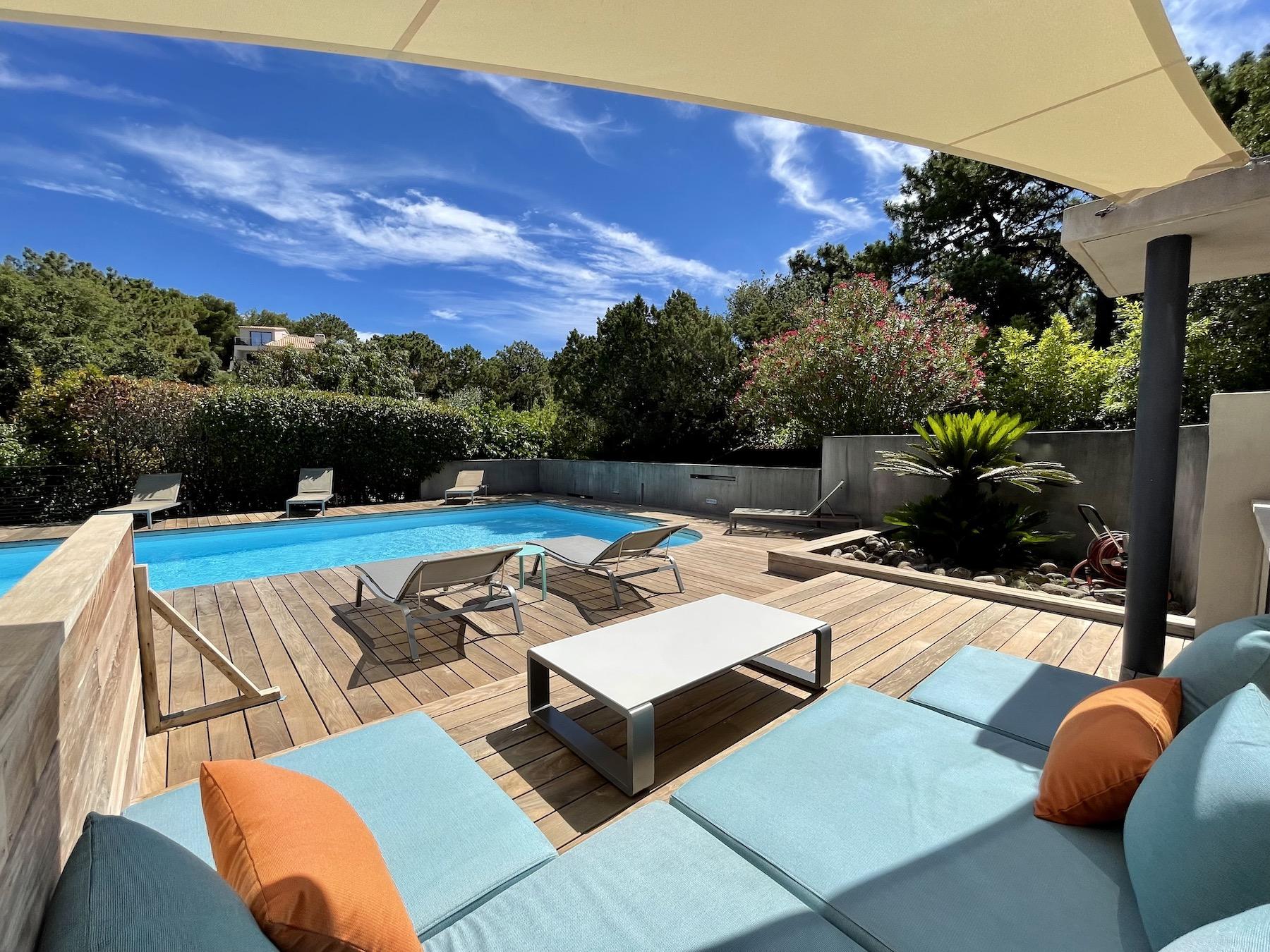 Location villa Palma Porto Vecchio Domaine privé de Cala Rossa Corse du sud luxueuse villa 7 chambre piscine proche plage privées vue mer