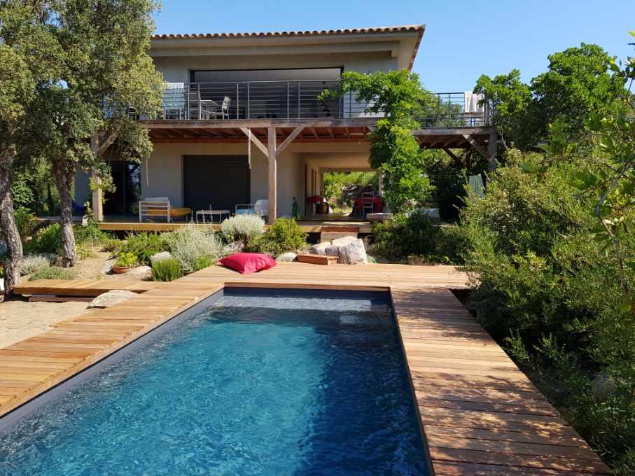 Location villa avec piscine Porto-Vecchio 4 chambres, luxe, proche plage de Cala Rossa et St cyprien