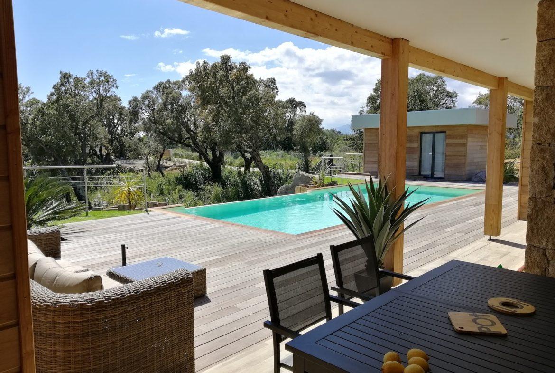 Location villa Porto-Vecchio 3 chambres piscine vue mer en Corse